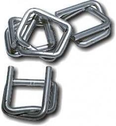 Metallklemme 13mm selbstsperrend für Polyesterfadenband - Textilumreifungsband